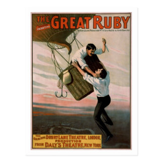 """The Great Ruby"" Vintage Theater Poster Postcard"