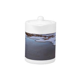 The Great Salt Lake in Utah Sunrise Teapot