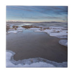 "The Great Salt Lake in Utah Sunrise Tile<br><div class=""desc"">This photo was taken at the Great Salt Lake in Utah in the winter time.</div>"