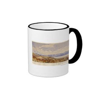 The Great Salt Lake, Utah Ringer Coffee Mug