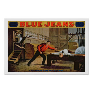 'The Great Saw Mill Scene', Poster for 'Blue Jeans