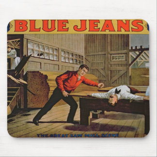 'The Great Saw Mill Scene', Poster for 'Blue Jeans Mouse Pad