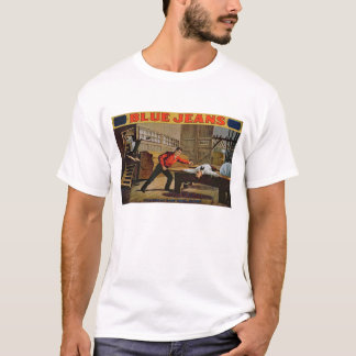 'The Great Saw Mill Scene', Poster for 'Blue Jeans T-Shirt