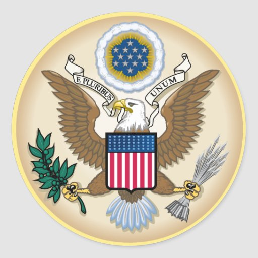 The Great Seal Classic Round Sticker