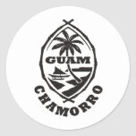 The great seal of Guam Classic Round Sticker