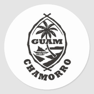 The great seal of Guam Round Sticker
