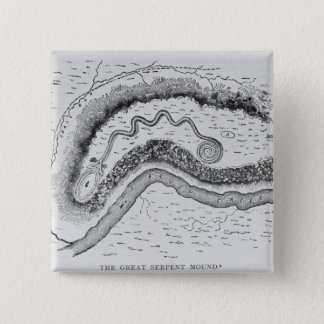 The Great Serpent Mound Pinback Button