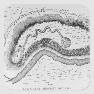 The Great Serpent Mound Square Sticker