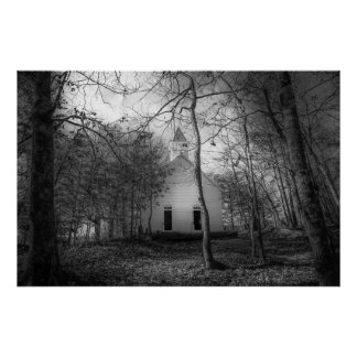 The Great Smoky Mountains Cades Cove Old Church Poster