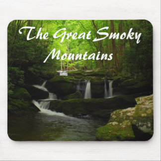 The Great Smoky Mountains Cascade Waterfall Mouse Pad