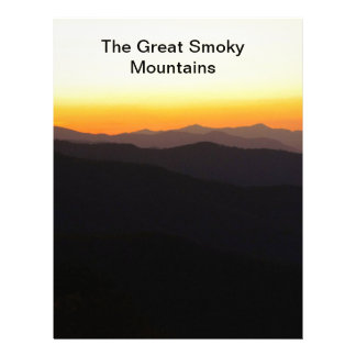 The Great Smoky Mountains Custom Letterhead