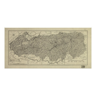 The Great Smoky Mountains National Park Map (1935) Poster