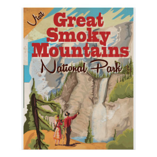 The Great Smoky Mountains Travel Poster. Poster