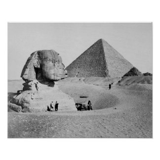 The Great Sphinx, 1877. Vintage Photo Poster