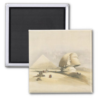 """The Great Sphinx and the Pyramids of Giza, from """"E 2 Inch Square Magnet"""