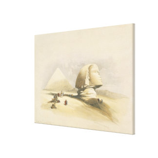 """The Great Sphinx and the Pyramids of Giza, from """"E Canvas Print"""