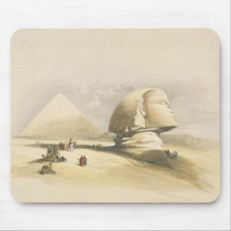 "The Great Sphinx and the Pyramids of Giza, from ""E Mouse Pad"