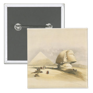 """The Great Sphinx and the Pyramids of Giza, from """"E Pinback Button"""