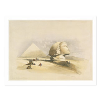 """The Great Sphinx and the Pyramids of Giza, from """"E Postcard"""