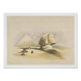 "The Great Sphinx and the Pyramids of Giza, from ""E Posters"