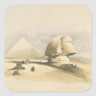 """The Great Sphinx and the Pyramids of Giza, from """"E Square Sticker"""