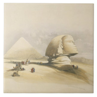 """The Great Sphinx and the Pyramids of Giza, from """"E Tile"""