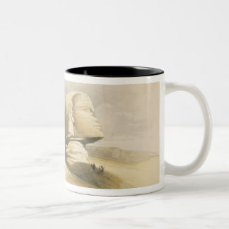 """The Great Sphinx and the Pyramids of Giza, from """"E Two-Tone Coffee Mug"""