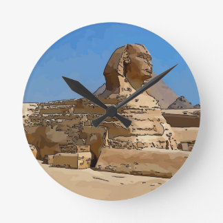The Great Sphinx of Giza Round Clock