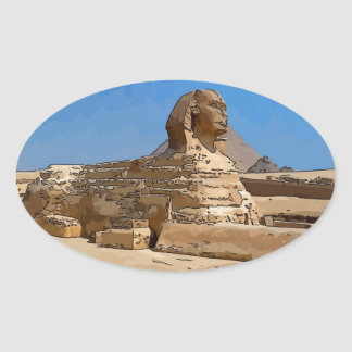 The Great Sphinx of Giza Oval Sticker