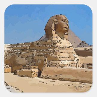 The Great Sphinx of Giza Square Sticker