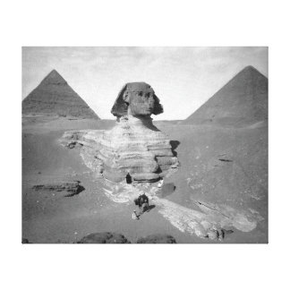 The Great Sphinx & Pyramids, 1878 Canvas Prints