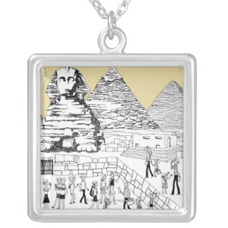 The Great Sphinx Silver Plated Necklace