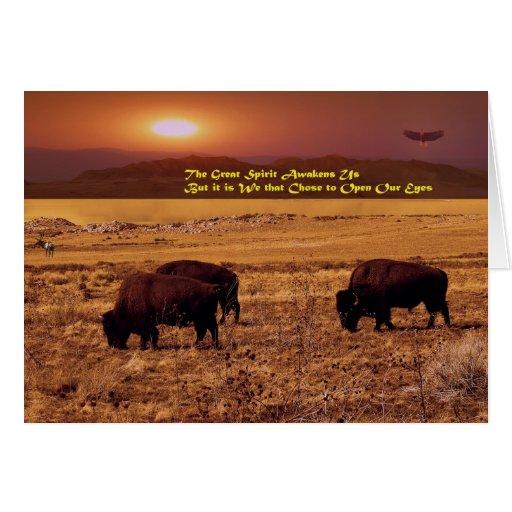 The Great Spirit Awakens Us Card