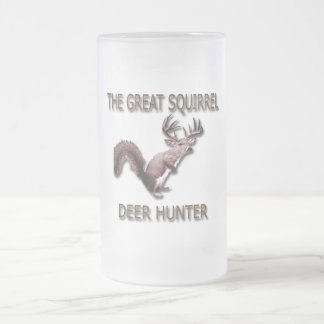 The Great Squirrel Deer Hunter Frosted Glass Beer Mug