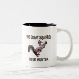 The Great Squirrel Deer Hunter Two-Tone Coffee Mug