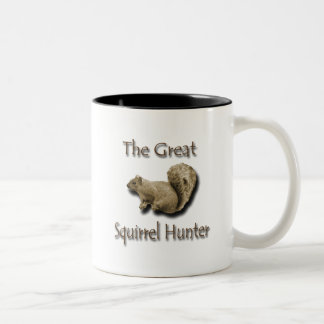 The Great Squirrel Hunter brown Two-Tone Coffee Mug