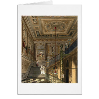 The Great Staircase at Kensington Palace From Pyne Card