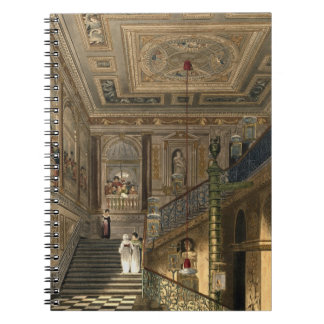 The Great Staircase at Kensington Palace From Pyne Notebook