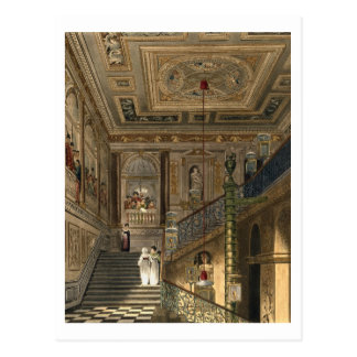 The Great Staircase at Kensington Palace From Pyne Postcard