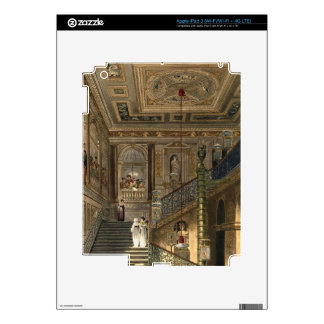 The Great Staircase at Kensington Palace From Pyne iPad 3 Skin