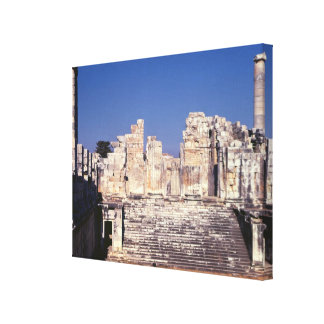 The Great Staircase of the Temple of Apollo Stretched Canvas Print