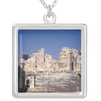 The Great Staircase of the Temple of Apollo Silver Plated Necklace