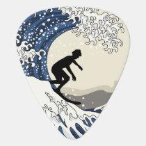 The Great Surfer of Kanagawa Guitar Pick
