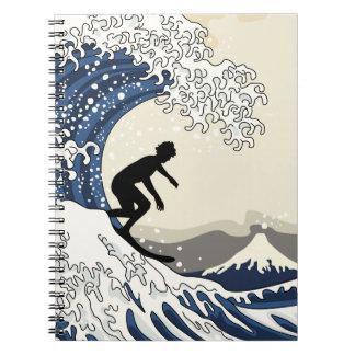 The Great Surfer of Kanagawa Notebook