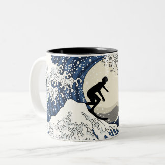 The Great Surfer of Kanagawa Two-Tone Coffee Mug