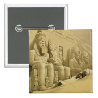 The Great Temple of Abu Simbel Nubia from Egypt Pinback Buttons
