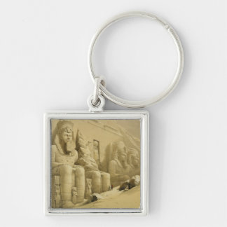 """The Great Temple of Abu Simbel, Nubia, from """"Egypt Key Chain"""