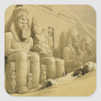 """The Great Temple of Abu Simbel, Nubia, from """"Egypt Square Sticker"""