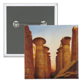 The Great Temple of Amun at Karnak Pinback Buttons
