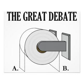 The Great Toilet Paper Bathroom Debate